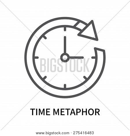 Time Metaphor Icon Isolated On White Background. Time Metaphor Icon Simple Sign. Time Metaphor Icon