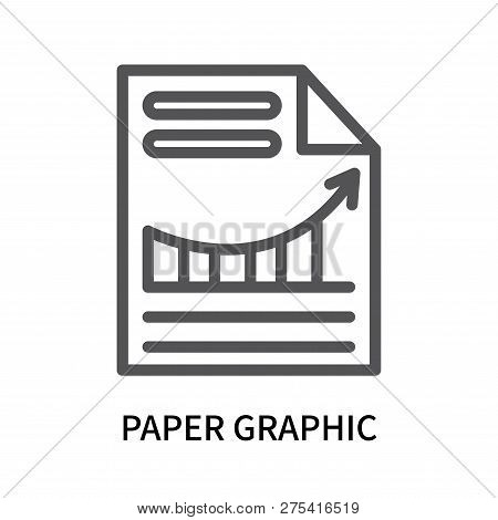 Paper Graphic Icon Isolated On White Background. Paper Graphic Icon Simple Sign. Paper Graphic Icon