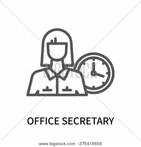 Office Secretary Icon Isolated On White Background. Office Secretary Icon Simple Sign. Office Secret
