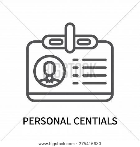 Personal Centials Icon Isolated On White Background. Personal Centials Icon Simple Sign. Personal Ce