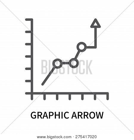 Graphic Arrow Icon Isolated On White Background. Graphic Arrow Icon Simple Sign. Graphic Arrow Icon