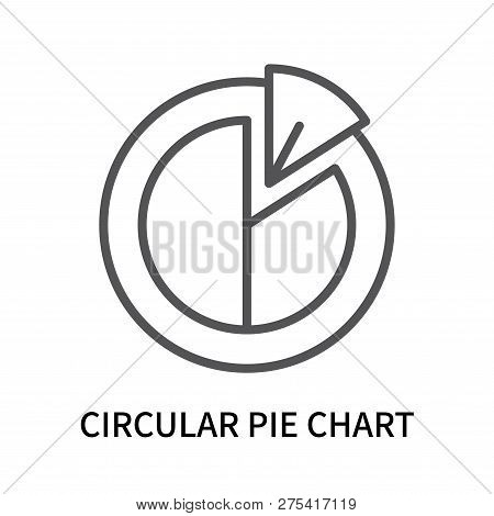 Circular Pie Chart Icon Isolated On White Background. Circular Pie Chart Icon Simple Sign. Circular