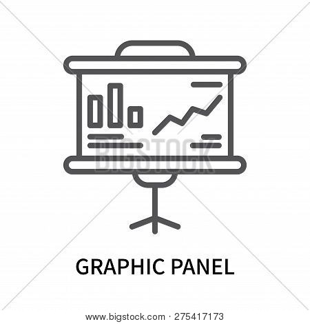 Graphic Panel Icon Isolated On White Background. Graphic Panel Icon Simple Sign. Graphic Panel Icon