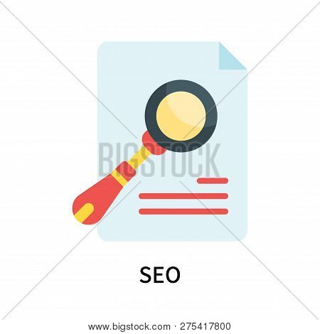 Seo Icon Isolated On White Background. Seo Icon Simple Sign. Seo Icon Trendy And Modern Symbol For G