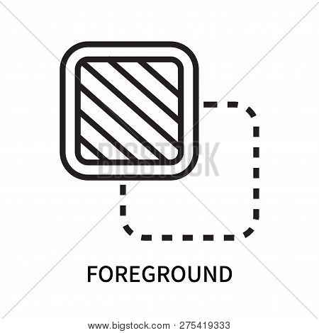 Foreground Icon Isolated On White Background. Foreground Icon Simple Sign. Foreground Icon Trendy An