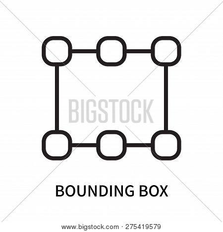 Bounding Box Icon Isolated On White Background. Bounding Box Icon Simple Sign. Bounding Box Icon Tre