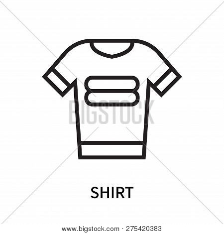 Shirt Icon Isolated On White Background. Shirt Icon Simple Sign. Shirt Icon Trendy And Modern Symbol