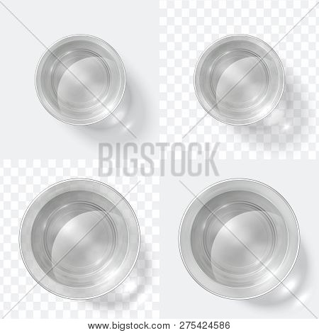 Top View Glass. Clear Shot Of Vodka Or Water, Glass Cup Isolated On White And Transparent Background
