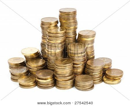 Towers Of Golden Coins