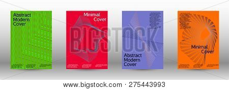 Modern Design Template. A Set Of Modern Abstract Covers. Minimal Vector Cover Design With Abstract L