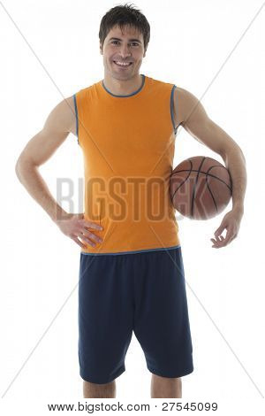 Basketball player, isolated on white