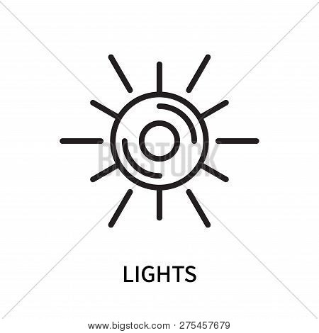 Lights Icon Isolated On White Background. Lights Icon Simple Sign. Lights Icon Trendy And Modern Sym