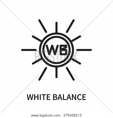 White Balance Icon Isolated On White Background. White Balance Icon Simple Sign. White Balance Icon