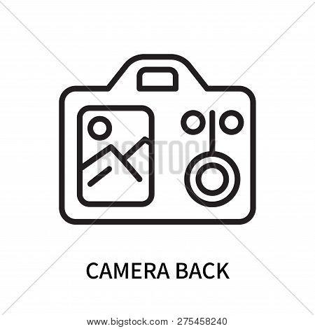 Camera Back Icon Isolated On White Background. Camera Back Icon Simple Sign. Camera Back Icon Trendy