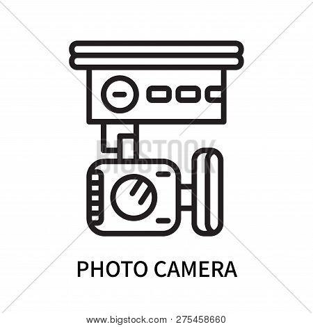 Photo Camera Icon Isolated On White Background. Photo Camera Icon Simple Sign. Photo Camera Icon Tre