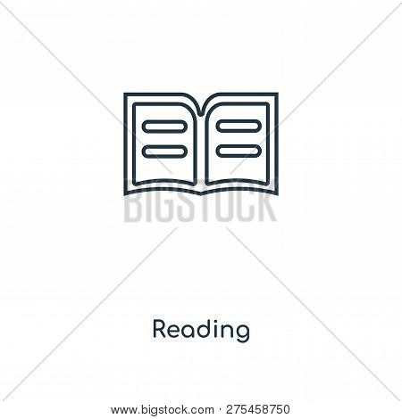 Reading Icon In Trendy Design Style. Reading Icon Isolated On White Background. Reading Vector Icon