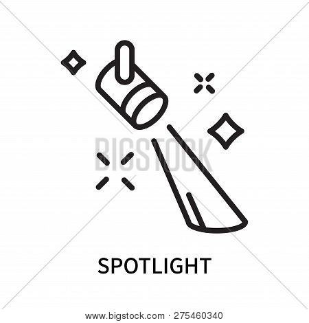 Spotlight Icon Isolated On White Background. Spotlight Icon Simple Sign. Spotlight Icon Trendy And M