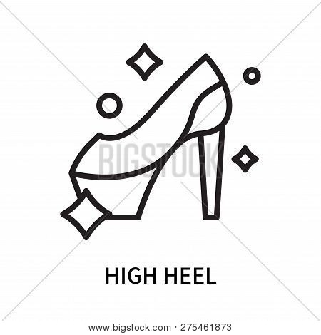 High Heel Icon Isolated On White Background. High Heel Icon Simple Sign. High Heel Icon Trendy And M