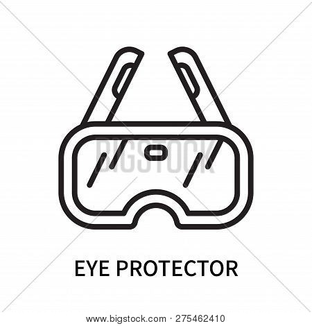 Eye Protector Icon Isolated On White Background. Eye Protector Icon Simple Sign. Eye Protector Icon