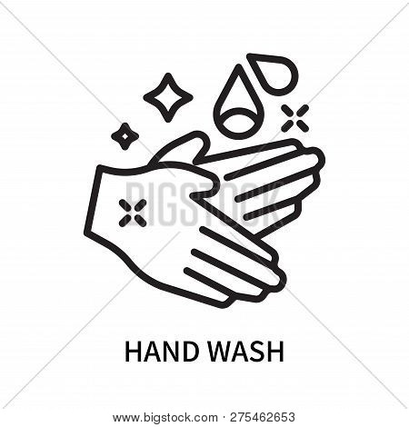 Hand Wash Icon Isolated On White Background. Hand Wash Icon Simple Sign. Hand Wash Icon Trendy And M
