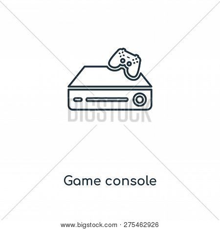 Game Console Icon In Trendy Design Style. Game Console Icon Isolated On White Background. Game Conso