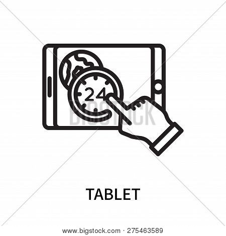 Tablet Icon Isolated On White Background. Tablet Icon Simple Sign. Tablet Icon Trendy And Modern Sym