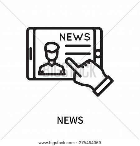 News Icon Isolated On White Background. News Icon Simple Sign. News Icon Trendy And Modern Symbol Fo