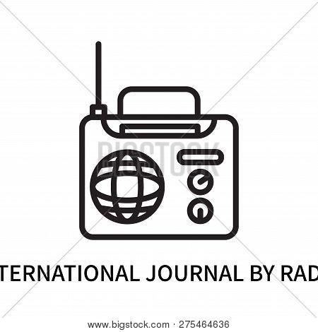 International Journal By Radio Icon Isolated On White Background. International Journal By Radio Ico