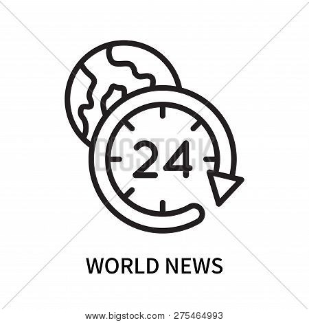 World News Icon Isolated On White Background. World News Icon Simple Sign. World News Icon Trendy An