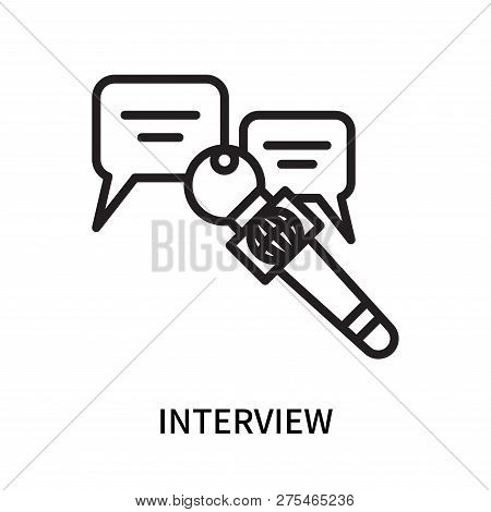 Interview Icon Isolated On White Background. Interview Icon Simple Sign. Interview Icon Trendy And M