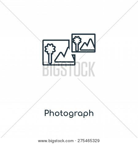 Photograph Icon In Trendy Design Style. Photograph Icon Isolated On White Background. Photograph Vec