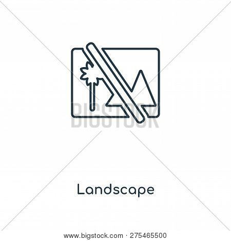 Landscape Icon In Trendy Design Style. Landscape Icon Isolated On White Background. Landscape Vector