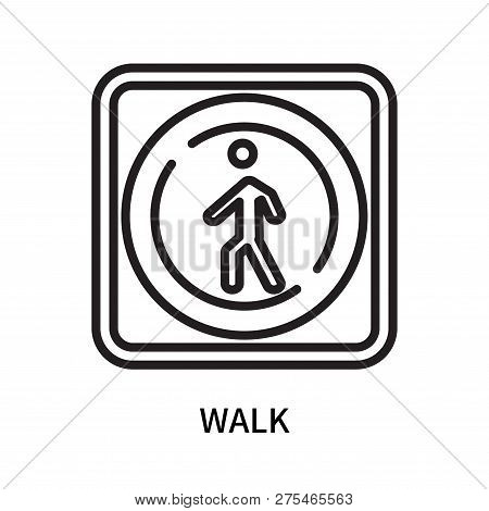 Walk Icon Isolated On White Background. Walk Icon Simple Sign. Walk Icon Trendy And Modern Symbol Fo