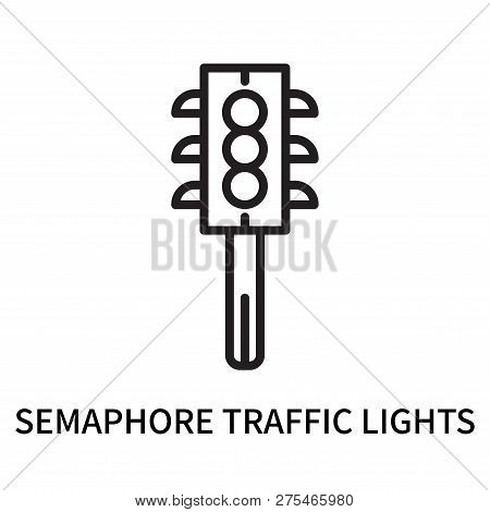 Semaphore Traffic Lights Icon Isolated On White Background. Semaphore Traffic Lights Icon Simple Sig