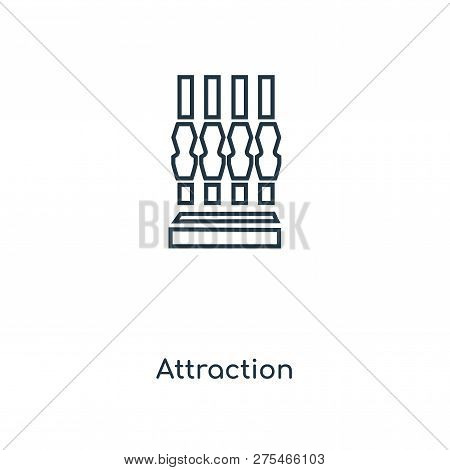 Attraction Icon In Trendy Design Style. Attraction Icon Isolated On White Background. Attraction Vec