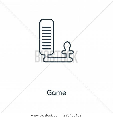 Game Icon In Trendy Design Style. Game Icon Isolated On White Background. Game Vector Icon Simple An