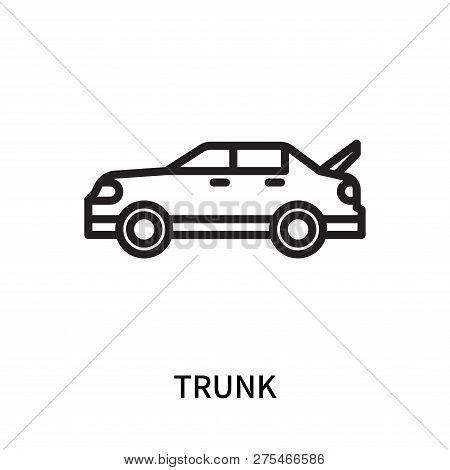 Trunk Icon Isolated On White Background. Trunk Icon Simple Sign. Trunk Icon Trendy And Modern Symbol