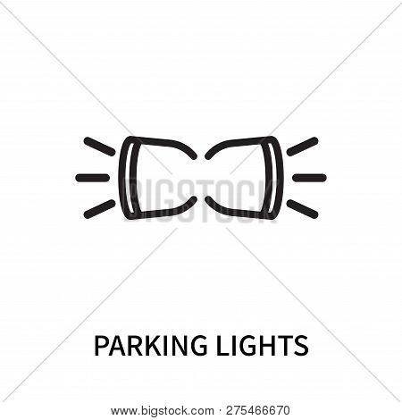 Parking Lights Icon Isolated On White Background. Parking Lights Icon Simple Sign. Parking Lights Ic