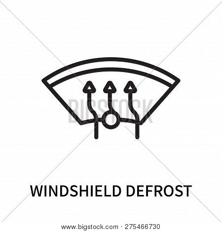 Windshield Defrost Icon Isolated On White Background. Windshield Defrost Icon Simple Sign. Windshiel