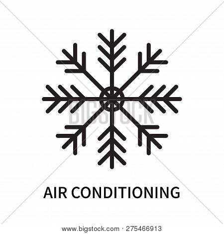 Air Conditioning Icon Isolated On White Background. Air Conditioning Icon Simple Sign. Air Condition