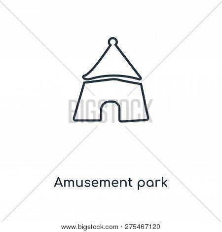 Amusement Park Icon In Trendy Design Style. Amusement Park Icon Isolated On White Background. Amusem