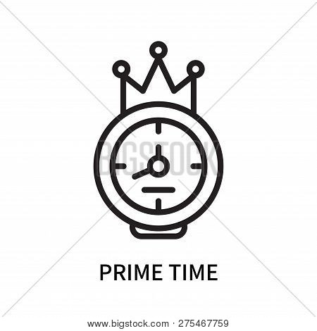 Prime Time Icon Isolated On White Background. Prime Time Icon Simple Sign. Prime Time Icon Trendy An