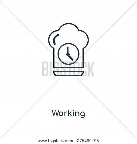 Working Icon In Trendy Design Style. Working Icon Isolated On White Background. Working Vector Icon