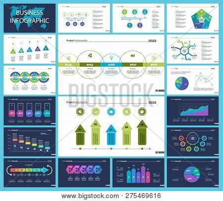Business Inforgraphic Design Set For Marketing Concept. Can Be Used For Business Project, Annual Rep