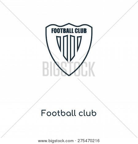 Football Club Icon In Trendy Design Style. Football Club Icon Isolated On White Background. Football