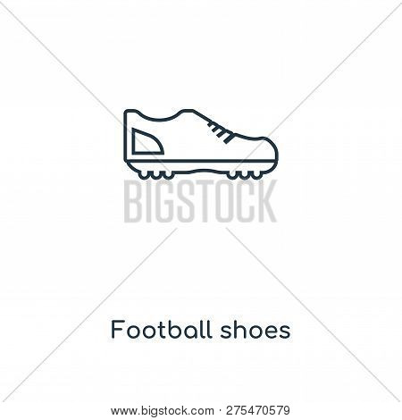 Football Shoes Icon In Trendy Design Style. Football Shoes Icon Isolated On White Background. Footba