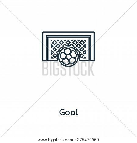 Goal Icon In Trendy Design Style. Goal Icon Isolated On White Background. Goal Vector Icon Simple An