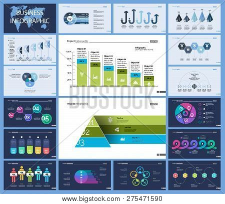 Set Of Planning Or Strategy Concept Infographic Charts. Business Diagrams For Presentation Slide Tem