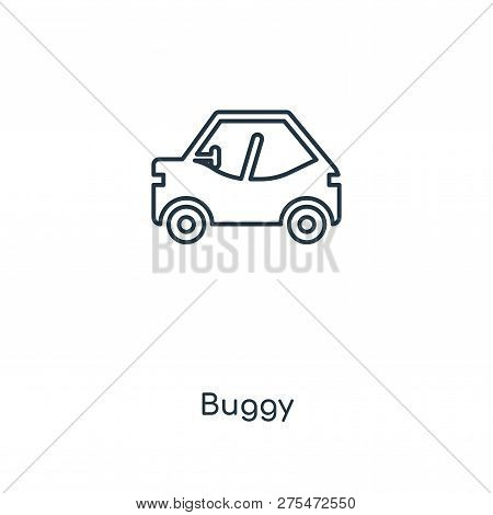 Buggy Icon In Trendy Design Style. Buggy Icon Isolated On White Background. Buggy Vector Icon Simple