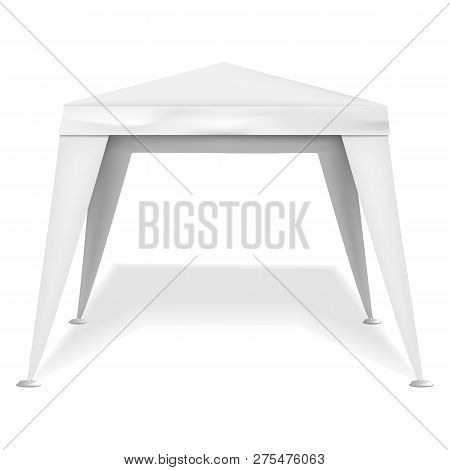 Commercial Tent Icon. Realistic Illustration Of Commercial Tent Vector Icon For Web Design Isolated